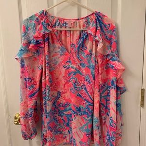 Lilly Pulitzer Silk Top